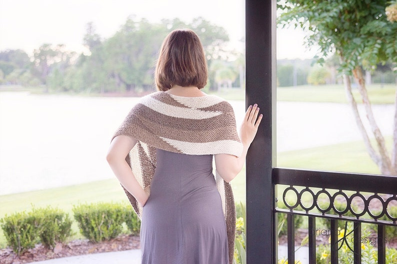 Knit Pattern Parallel Wrap Shawl Women/'s Shawl Accessory easy to follow knit pattern instructions Instant Download