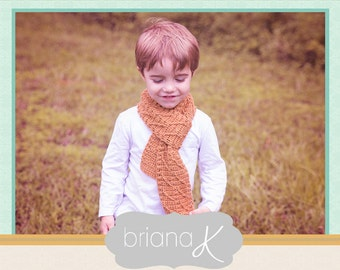 Rust Scarf Crochet PATTERN, in 3 Size Options, Instant Download
