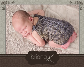 Knit PATTERN Instant Download, Newborn Nantucket Romper
