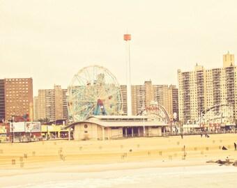 Coney Island - Cyclone - Wonder Wheel - fine art print - vintage photography -Brooklyn New York