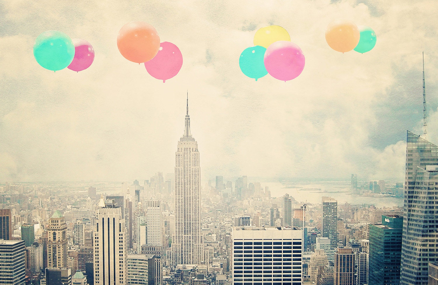 New York Photography Balloons Over The City Fine Art Print
