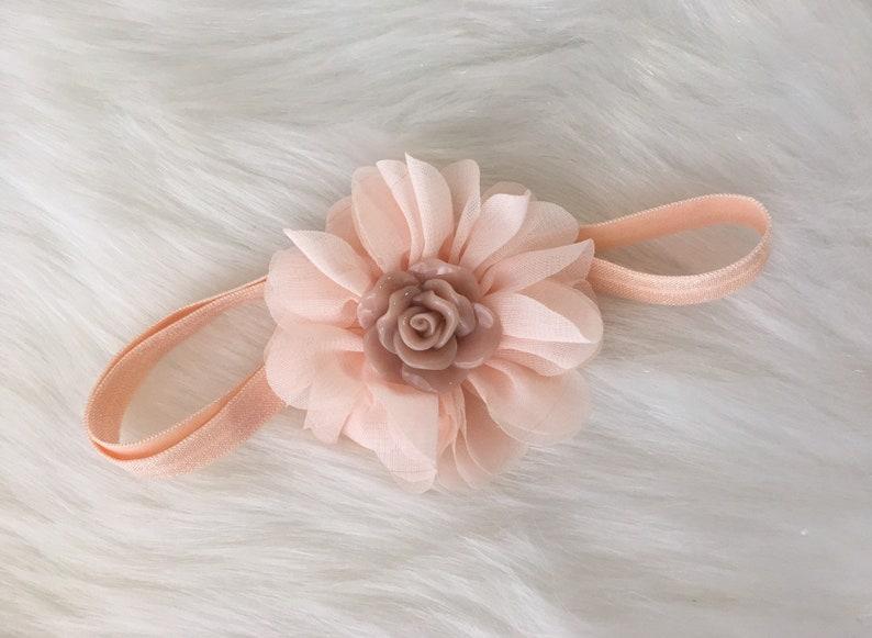 Pink Baby Girl Headband Pink Rose Headband Photography Props Ready to Ship Vintage Headband Country Headband Rose Headband Birthday