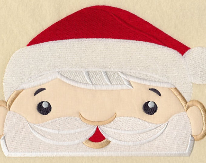 "Holiday ""Peeking Mr. Santa"" Towel Bib"