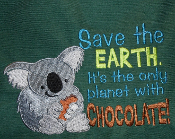 Save The Earth Chocolate Adult Novelty Apron