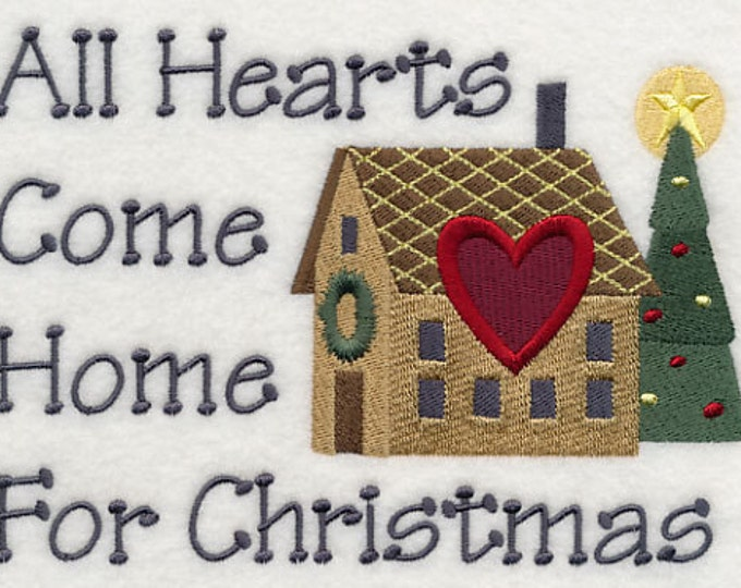Holiday Decorative Hearts Come Home For Christmas Sweatshirt