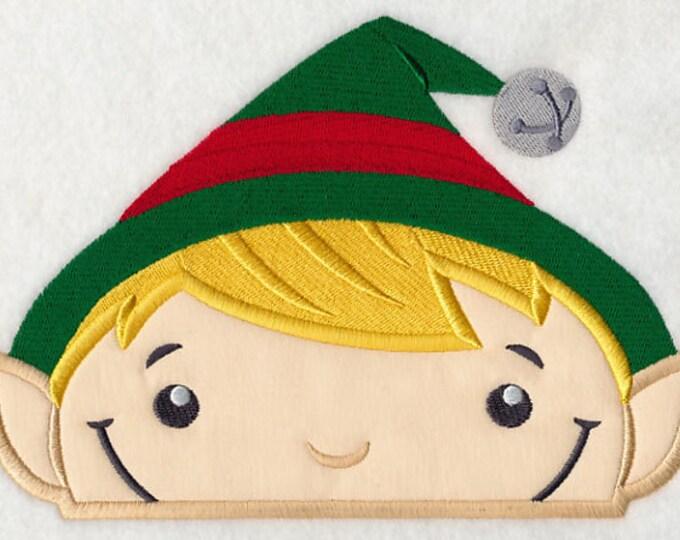 """Holiday """"Peeking Elf"""" Towel Bib"""