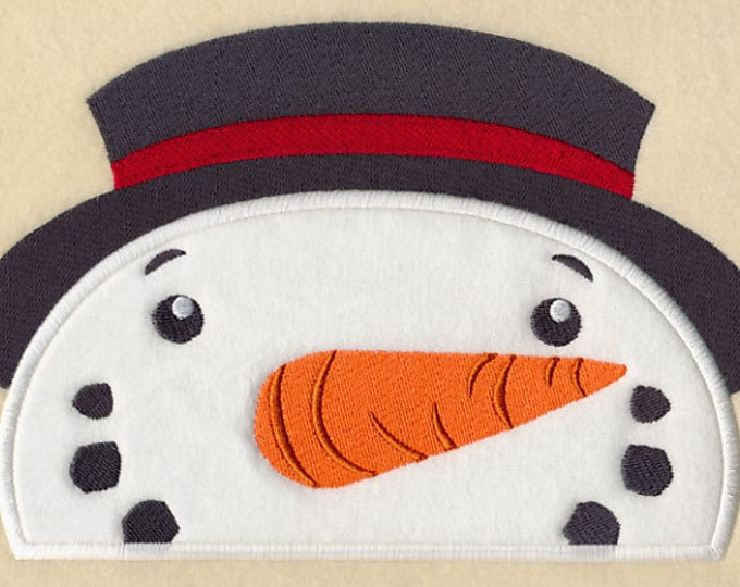 "Holiday ""Peeking Snowman"" Towel Bib"
