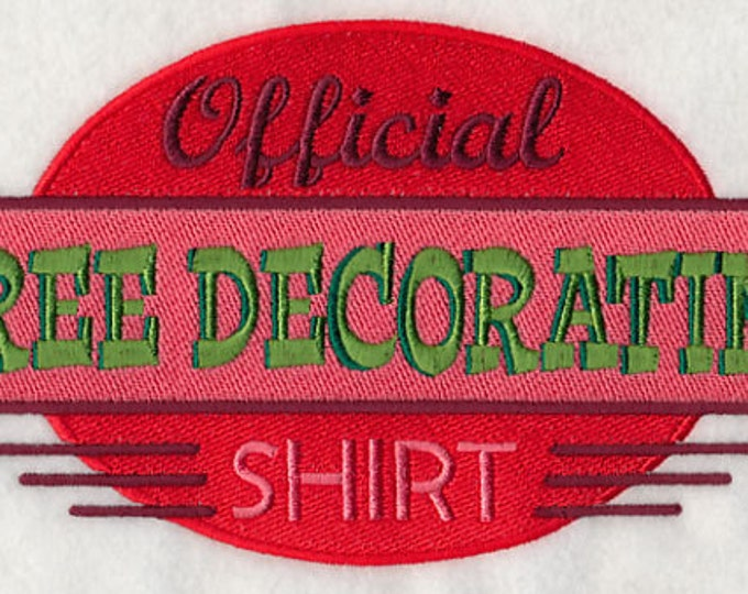 "Holiday"" Official Tree Decorating Shirt"" Sweatshirt"