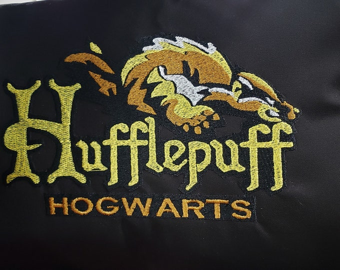 "Novelty Embroidered Harry Potter Themed ""Hufflepuff Mascot"" Pillow"