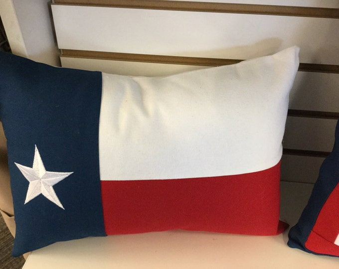 Embroidered Texas Flag Envelope  Pillow