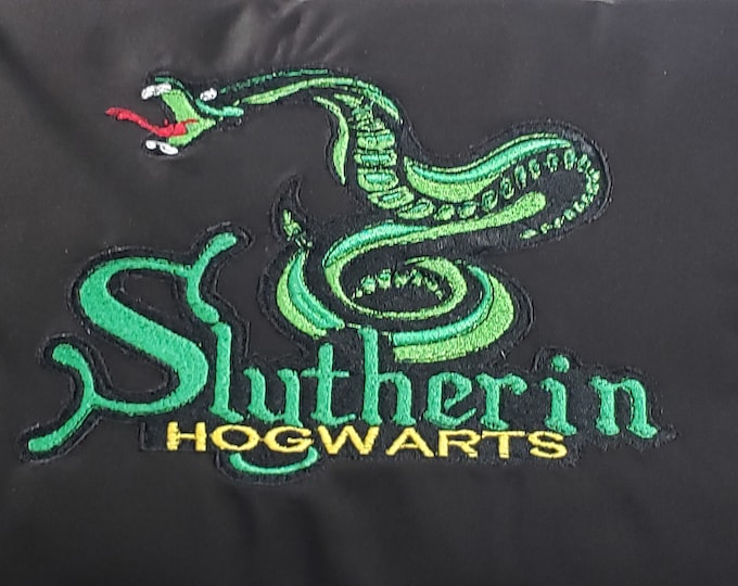 "Novelty Embroidered Harry Potter Themed ""Slytherin Mascot"" Pillow"
