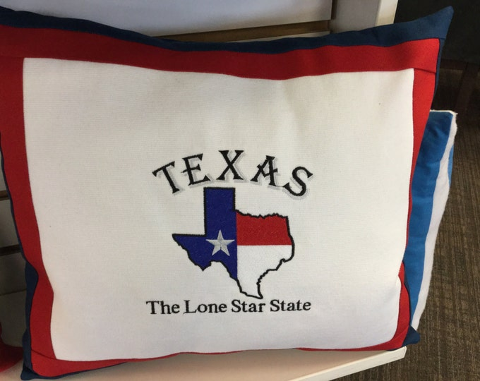 Texas The Lone Star State Novelty Pillow