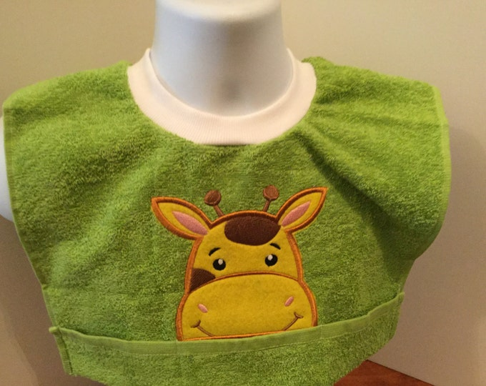Giraffe Terry Cloth Toddler Towel Bib