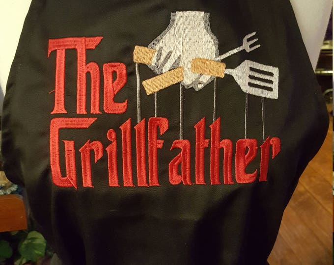 "Novelty Adult Apron ""The Grillfather"""