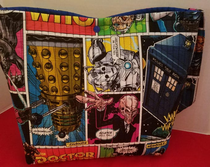 Doctor Who Quilted Novelty Tote Bag