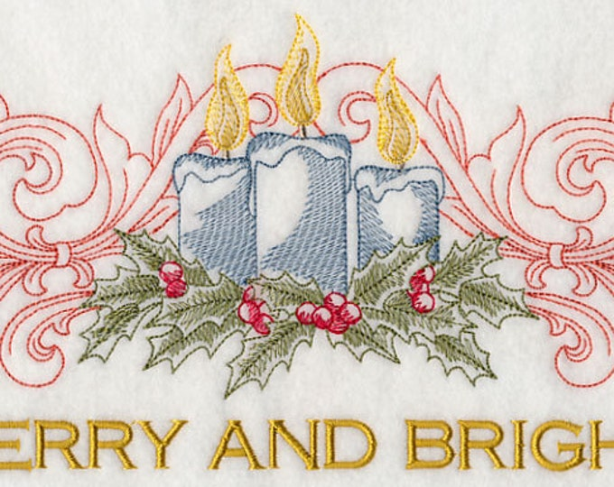 "Holiday ""Merry and Bright"" Embroidered Sweatshirt"