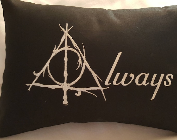 "Novelty ""Deathly Hallows Always"" Reversible Pillow"