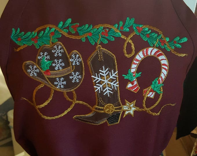 Texas Themed Holiday Apron