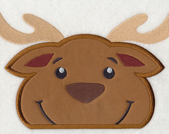 "Holiday ""Peeking Reindeer"" Towel Bib"