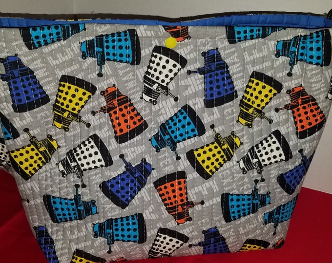 Doctor Who Dalek Quilted Novelty Tote