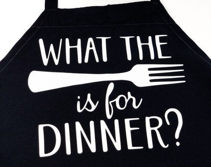 "Adult Naughty Themed Apron ""What The Fork is for Dinner"""