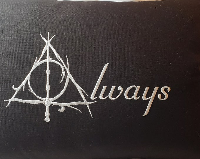 "Harry Potter ""Deathly Hallows Always"" Themed Pillow"