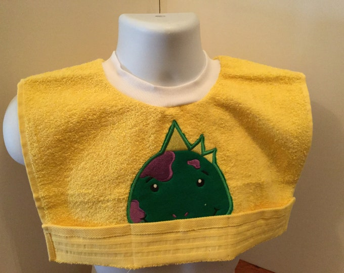 Dinosaur Terry Cloth Towel Toddler Bib