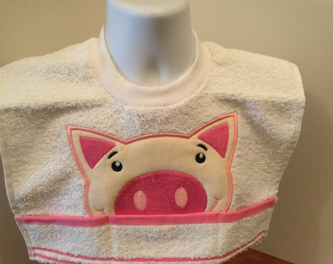Piggy Terry Cloth Toddler Towel Bib