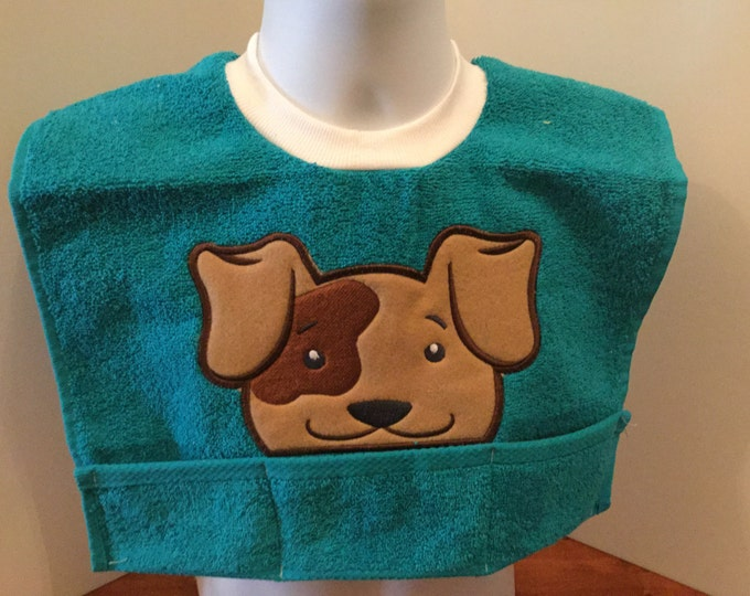 Puppy Dog Toddler Terry Cloth Bib