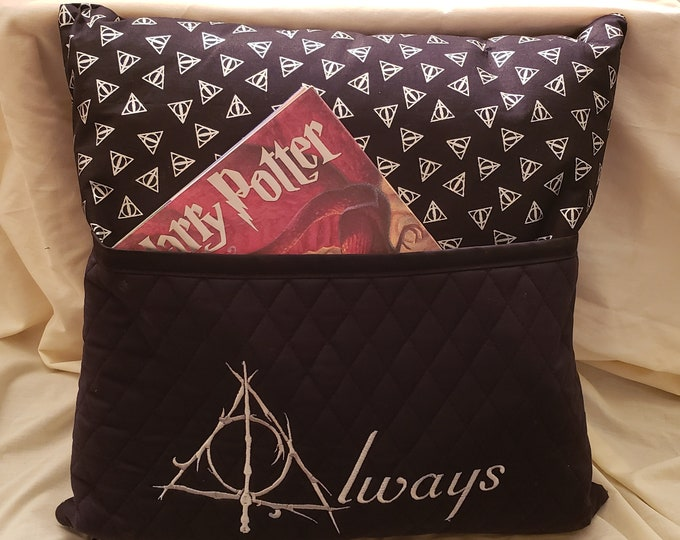 Novelty Embroidered HP Inspired Fantasy Themed Reading/Book Pillow