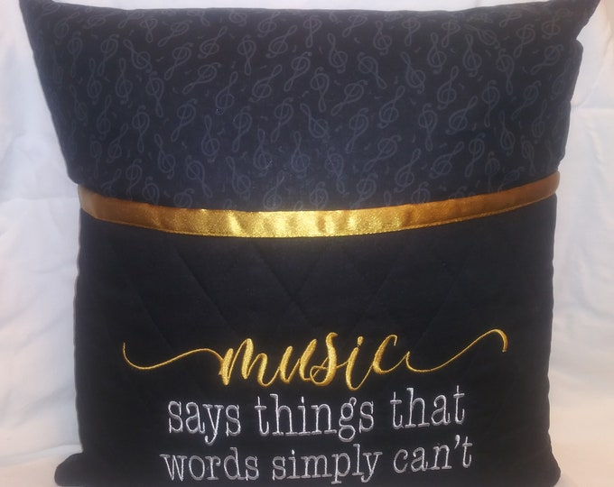 Music Themed Novelty Book/Reading Pillow