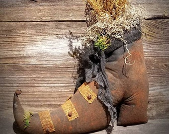 Primitive Witches Boot ~ Primitive Halloween ~ Primitive Witch Boot ~ Primitive Decor ~ Witches Boots ~ Witch Boot ~ Primitive Fall