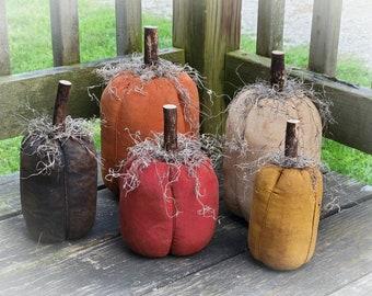 Primitive Pumpkins ~ Primitive Fall Decor ~ Primitive Autumn ~ Primitive Home Decor ~ Fabric Pumpkins ~ Fall Pumpkins ~ Country Primitive