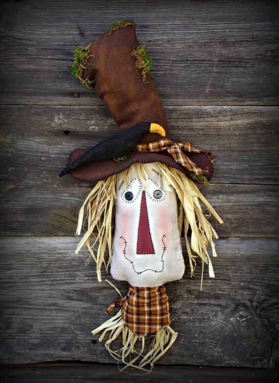 Primitive Scarecrow Door Hanger Fall Decor Fall Door Decor