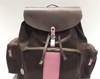 Leather Back Pack - Travel Back Pack - Carry All Back Pack - Diaper back Pack- Vintage Style - Handmade - Leather