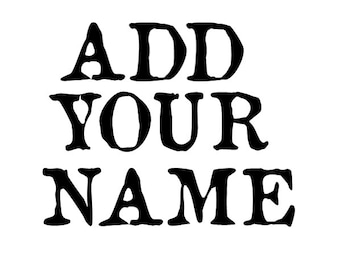 Personalize - Personalize name - Personalize Initials