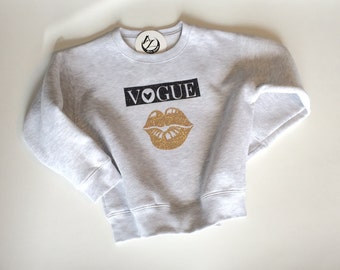 Girls- Sweat Shirts- Vogue Lip- Girls