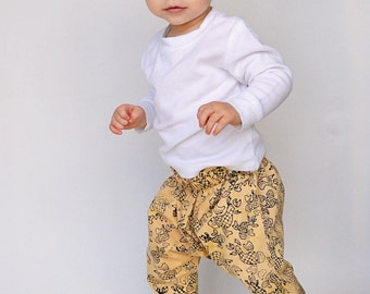Toddler Boys - Harem Pants- Cotton pants - Fish Ink blot pattern