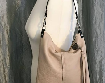 Cross Body - Leather - Pleated Bottom Bag