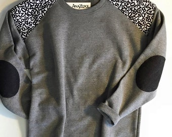 Sweat Shirt- Shoulder and Elbow accents