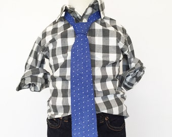 Blue Chambray Dot Necktie