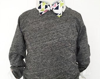 Triangles Bow Tie in Lime, Pink