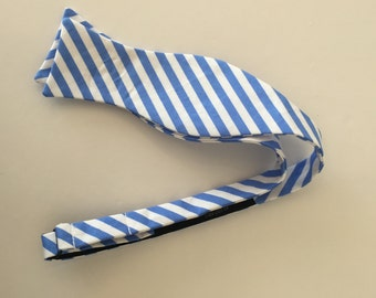 Men and Teen's Blue Stripe Bow Tie