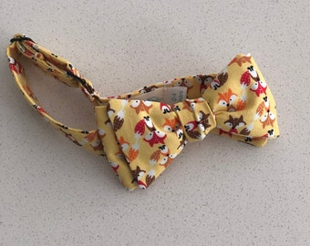 Boy's Bow tie in Yellow Fox