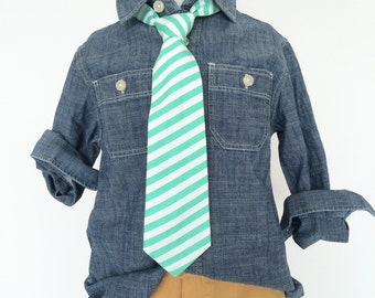 Spearmint Stripe Necktie