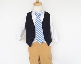 Blue Stripe Necktie for Boys