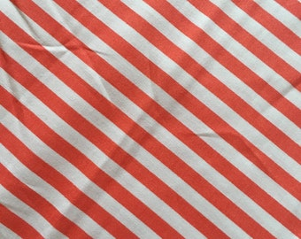 Robert Kaufman Coral Clown Stripe