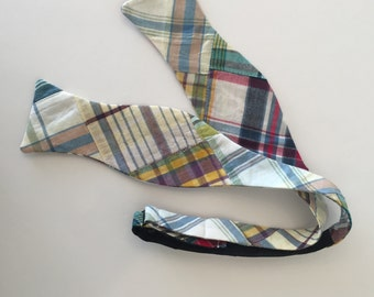 Men and Teen's Madras Plaid Bow Tie