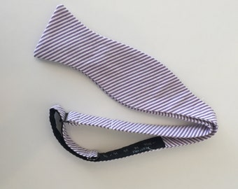 Men and Teen's Lilac Lavender Seersucker Bow Tie