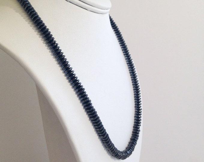 Magnetic hematite disk necklace -custom sized